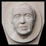 Portrait carvings for church in Golders Green