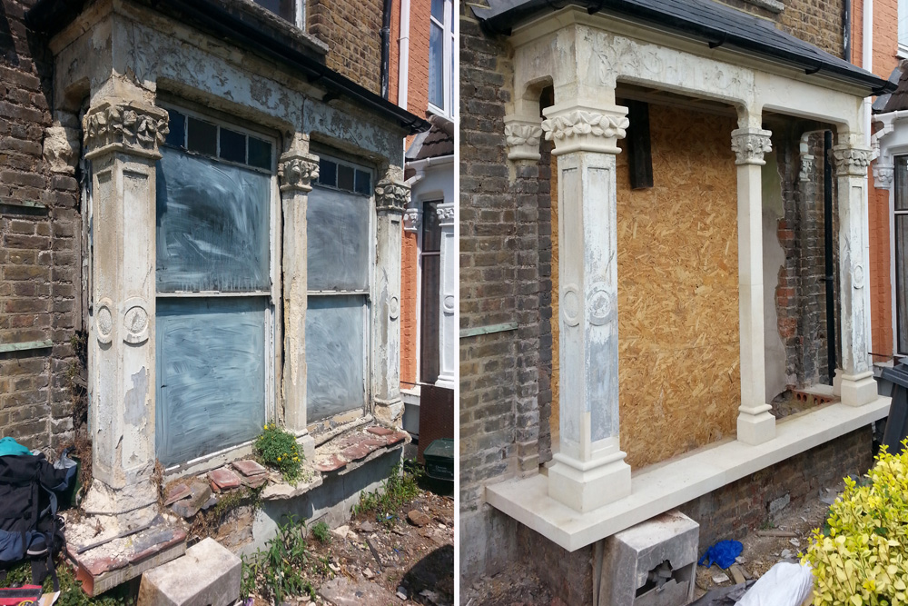 Victorian Bay Window : Victorian bay window restoration geraint davies stonemasonry