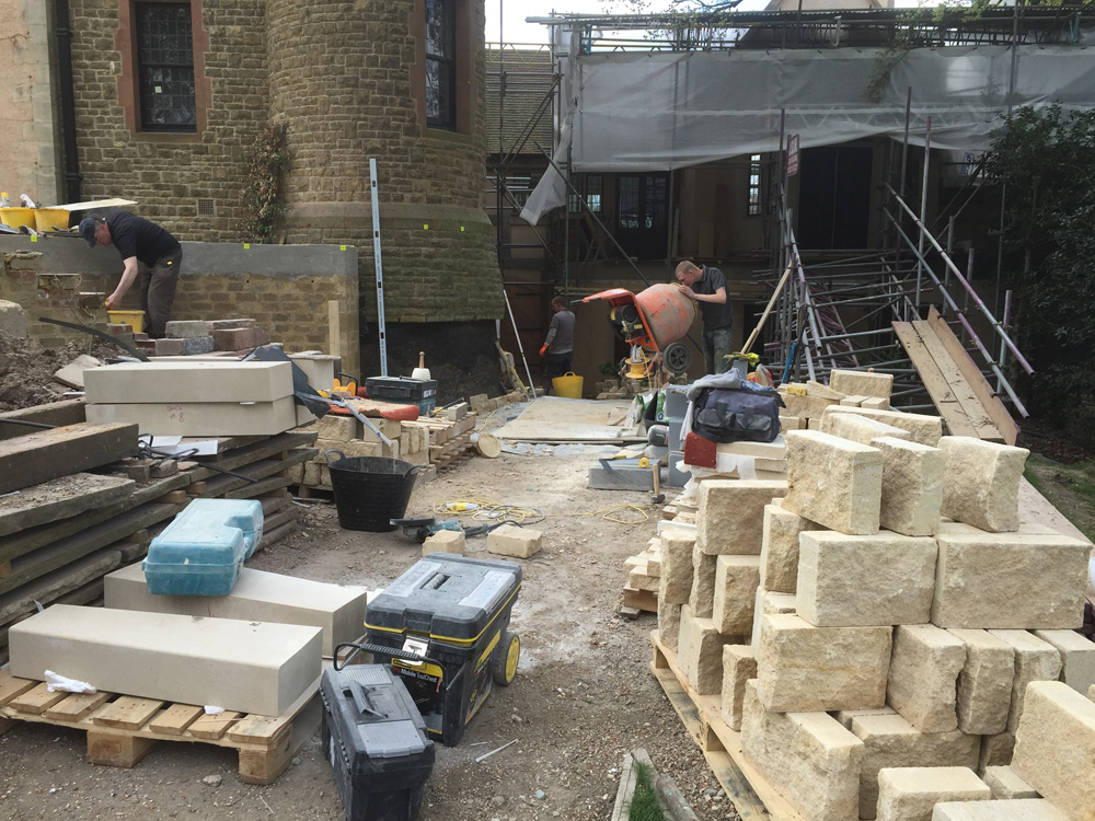 Rubble Walling and steps 01