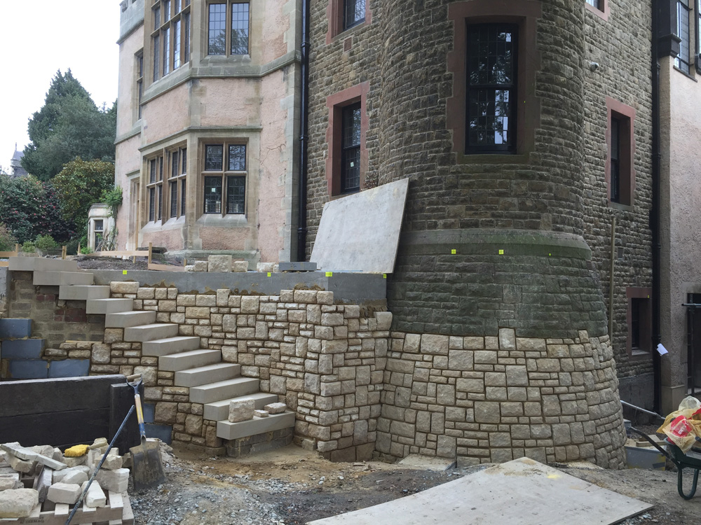 Rubble Walling and steps 03